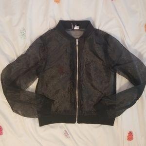 H&M black mesh jacket